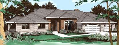 4 Bed, 2 Bath, 3003 Square Foot House Plan - #692-00032