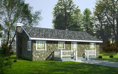 2 Bed, 1 Bath, 960 Square Foot House Plan - #692-00039