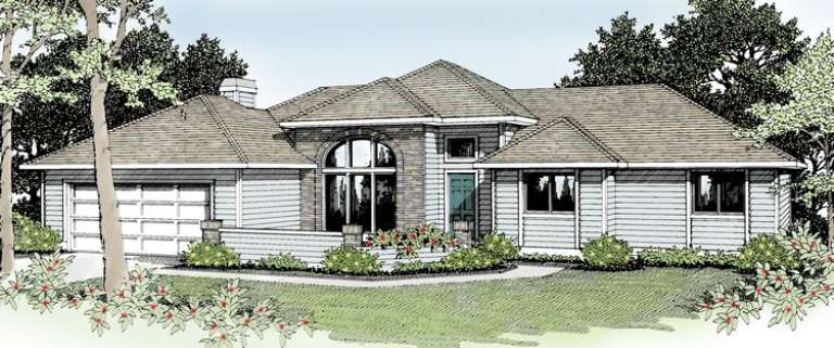 Ranch House Plan #692-00046 Elevation Photo