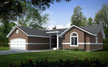 3 Bed, 2 Bath, 1601 Square Foot House Plan - #692-00048