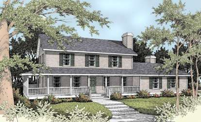 5 Bed, 3 Bath, 2561 Square Foot House Plan - #692-00069