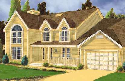 4 Bed, 2 Bath, 3171 Square Foot House Plan - #033-00128