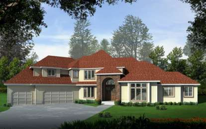4 Bed, 3 Bath, 3982 Square Foot House Plan - #692-00104
