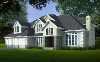 4 Bed, 3 Bath, 3483 Square Foot House Plan - #692-00114