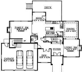 Floorplan 1 for House Plan #692-00114