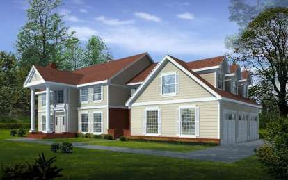 5 Bed, 3 Bath, 4260 Square Foot House Plan - #692-00118