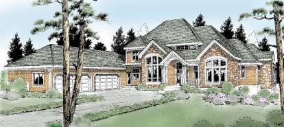 4 Bed, 4 Bath, 5101 Square Foot House Plan - #692-00120