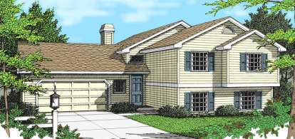 2 Bed, 2 Bath, 1126 Square Foot House Plan - #692-00124
