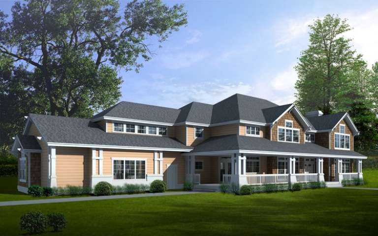 Luxury House Plan #692-00136 Elevation Photo