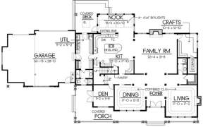 Floorplan 1 for House Plan #692-00136