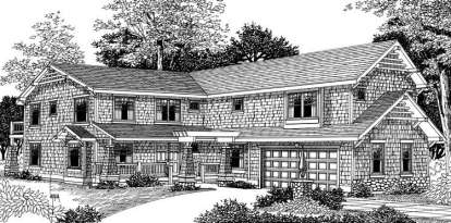 4 Bed, 3 Bath, 3664 Square Foot House Plan - #692-00154