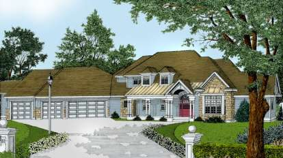 4 Bed, 3 Bath, 4217 Square Foot House Plan - #692-00156