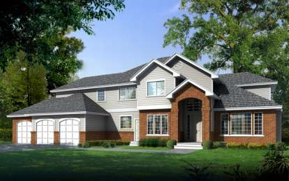 4 Bed, 2 Bath, 3346 Square Foot House Plan - #692-00168
