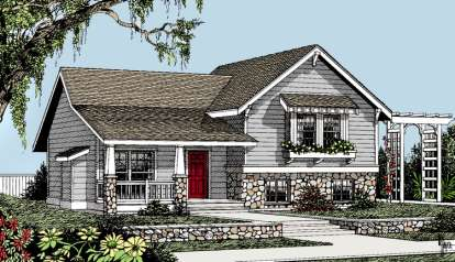 3 Bed, 2 Bath, 1224 Square Foot House Plan - #692-00189