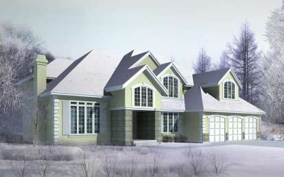 4 Bed, 4 Bath, 3514 Square Foot House Plan - #692-00199