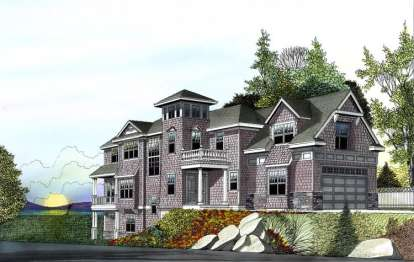 4 Bed, 4 Bath, 4702 Square Foot House Plan - #692-00200