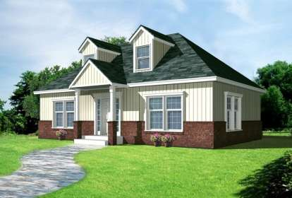 2 Bed, 1 Bath, 1000 Square Foot House Plan - #692-00201