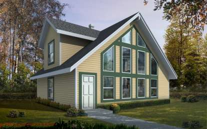 2 Bed, 2 Bath, 1146 Square Foot House Plan - #692-00222