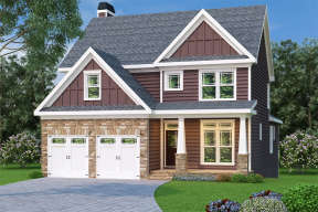 Traditional House Plan #009-00047 Elevation Photo