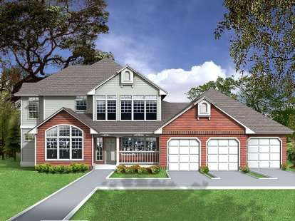 4 Bed, 2 Bath, 3384 Square Foot House Plan - #692-00227