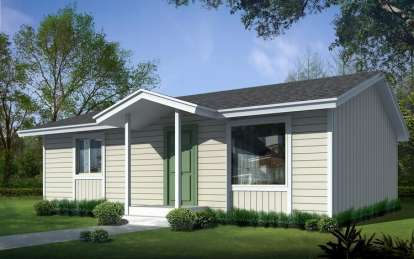2 Bed, 1 Bath, 832 Square Foot House Plan - #692-00228