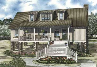 4 Bed, 4 Bath, 1970 Square Foot House Plan - #110-00815