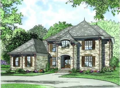 5 Bed, 4 Bath, 3601 Square Foot House Plan - #110-00834