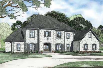 4 Bed, 4 Bath, 5835 Square Foot House Plan - #110-00835
