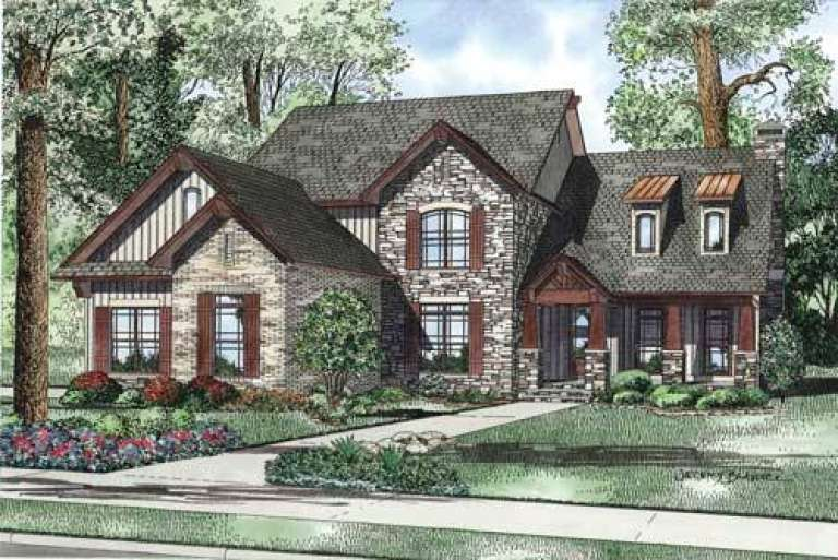 Traditional House Plan #110-00837 Elevation Photo