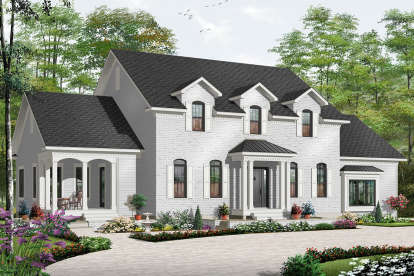 5 Bed, 4 Bath, 3126 Square Foot House Plan - #034-00179