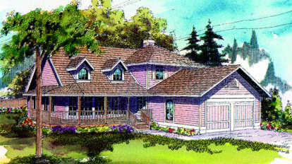 3 Bed, 2 Bath, 2169 Square Foot House Plan - #035-00001