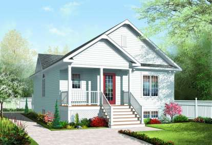 2 Bed, 1 Bath, 1042 Square Foot House Plan - #034-00193