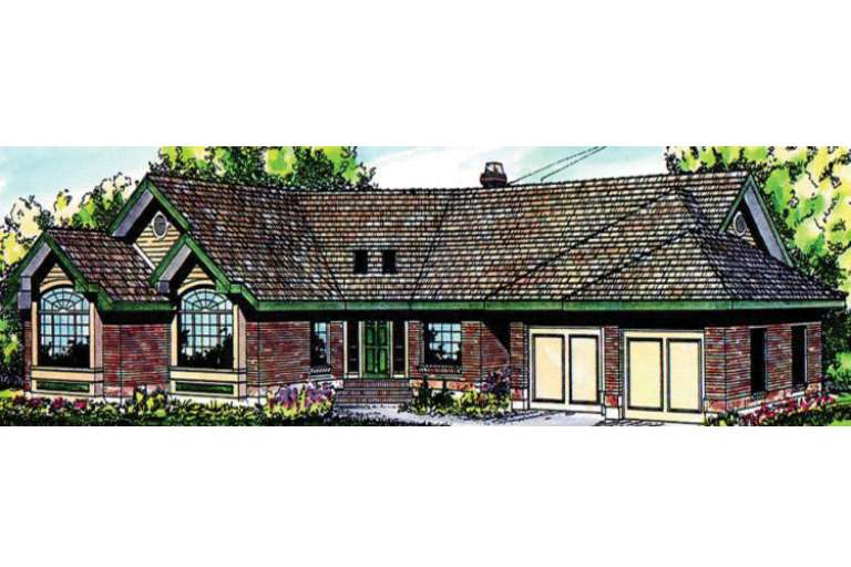 Ranch House Plan #035-00002 Elevation Photo