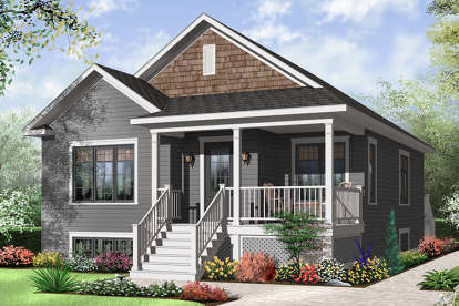 2 Bed, 1 Bath, 1017 Square Foot House Plan - #034-00194