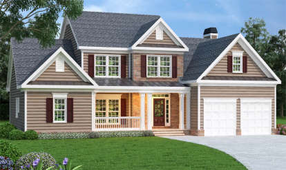 3 Bed, 2 Bath, 2351 Square Foot House Plan - #009-00048