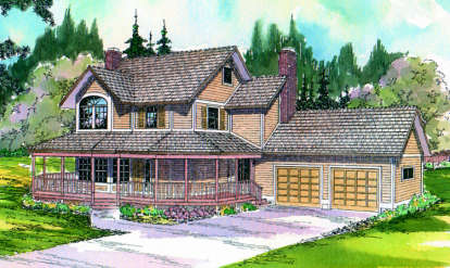 3 Bed, 2 Bath, 2110 Square Foot House Plan - #035-00006