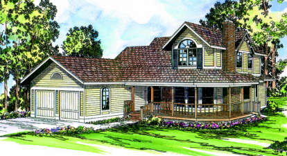3 Bed, 2 Bath, 2110 Square Foot House Plan - #035-00007