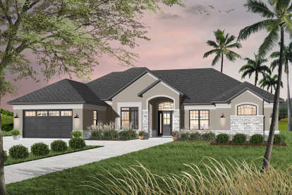 4 Bed, 3 Bath, 2842 Square Foot House Plan - #034-00205