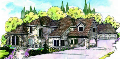 4 Bed, 3 Bath, 4015 Square Foot House Plan - #035-00009
