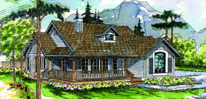 3 Bed, 2 Bath, 1794 Square Foot House Plan - #035-00012