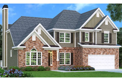 4 Bed, 3 Bath, 2763 Square Foot House Plan - #009-00049