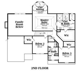 Second Floor for House Plan #009-00049