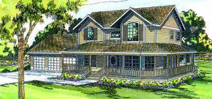 4 Bed, 3 Bath, 3357 Square Foot House Plan - #035-00014