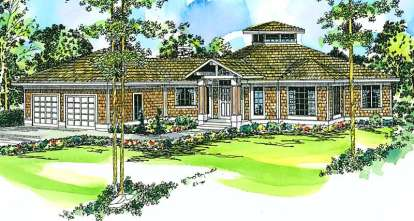 3 Bed, 2 Bath, 2417 Square Foot House Plan - #035-00015