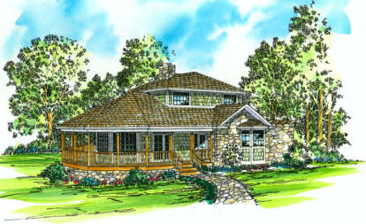 2 Bed, 2 Bath, 1575 Square Foot House Plan - #035-00017