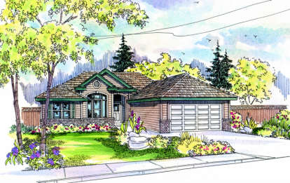 3 Bed, 2 Bath, 1401 Square Foot House Plan - #035-00018