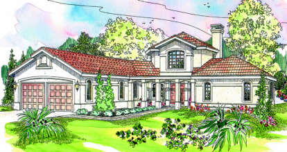 3 Bed, 3 Bath, 2979 Square Foot House Plan - #035-00019