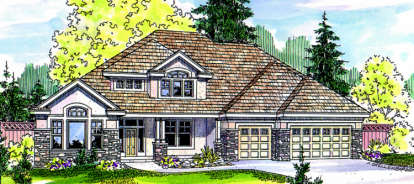 5 Bed, 3 Bath, 3922 Square Foot House Plan - #035-00024