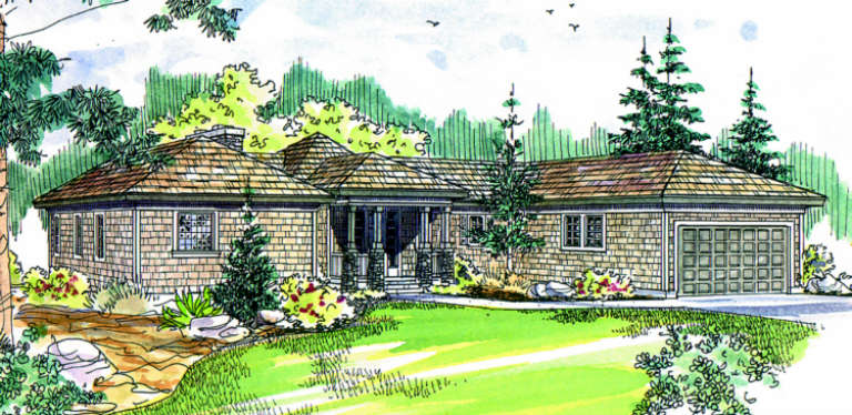 Contemporary House Plan #035-00025 Elevation Photo