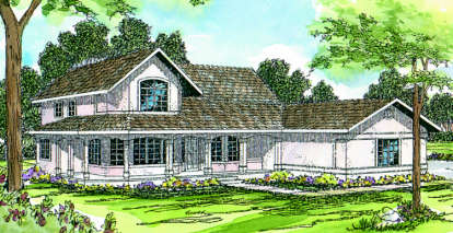 3 Bed, 2 Bath, 2673 Square Foot House Plan - #035-00026